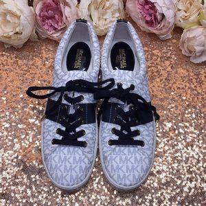 Michael Kors White/Blue Logo Sneakers 10M